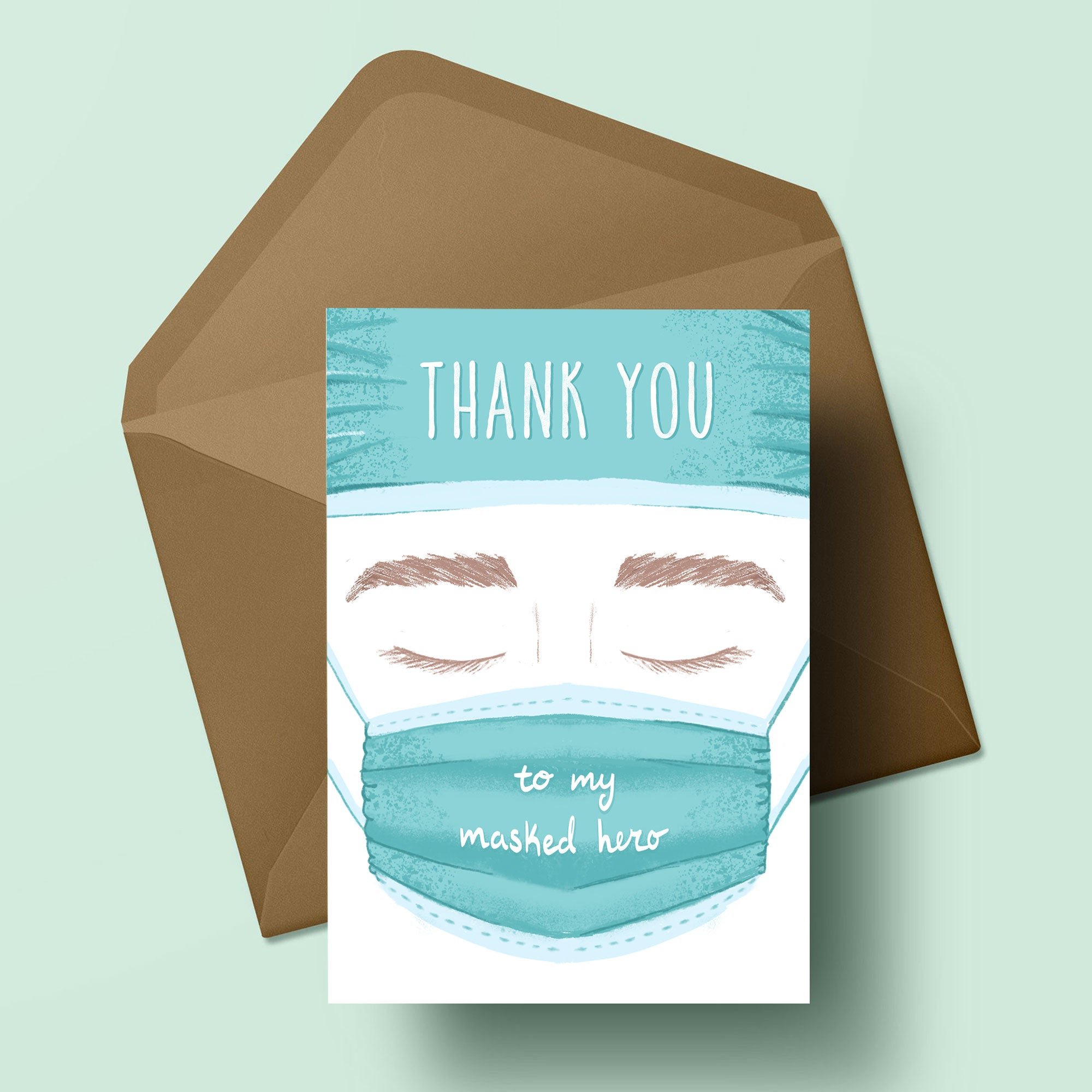 Masked Hero - Greeting Card