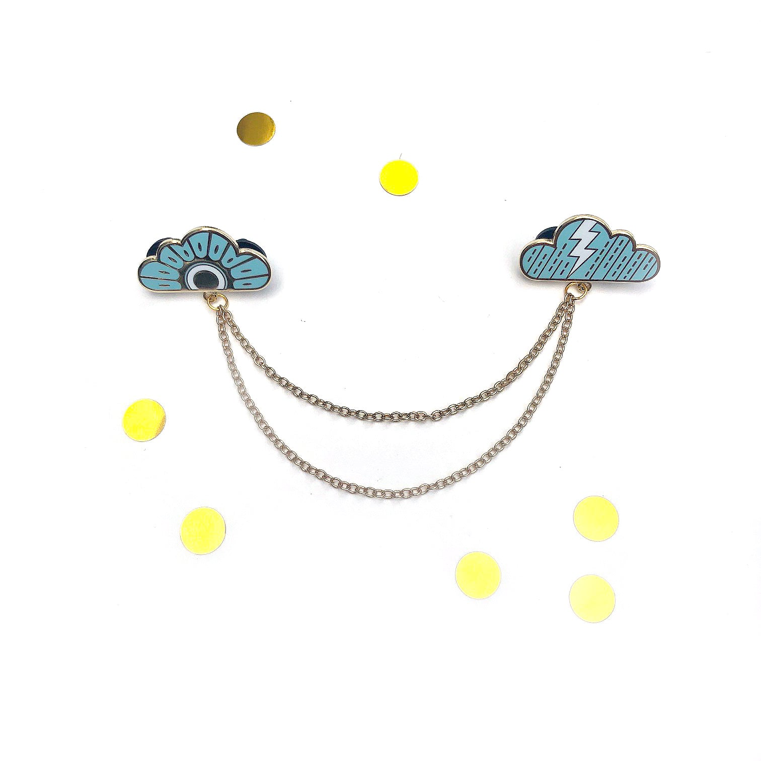 Weather Clouds - Collar Pins (blue)