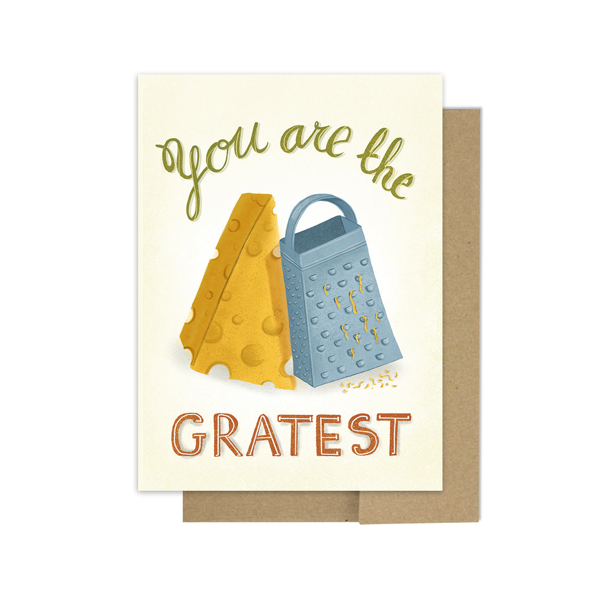 Cheese Grate Pun - Greeting Card