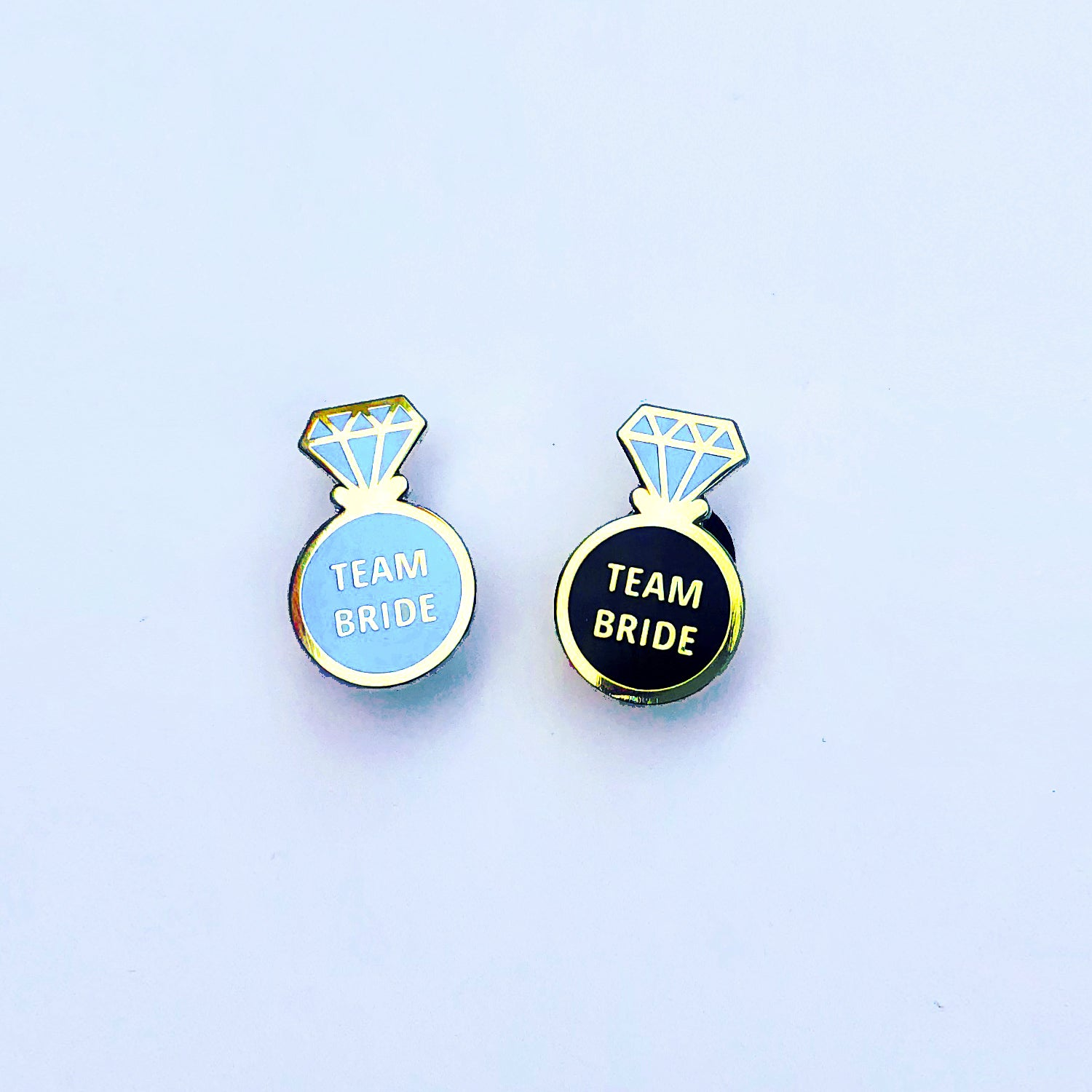 Team Bride Ring (black) - Enamel Pins