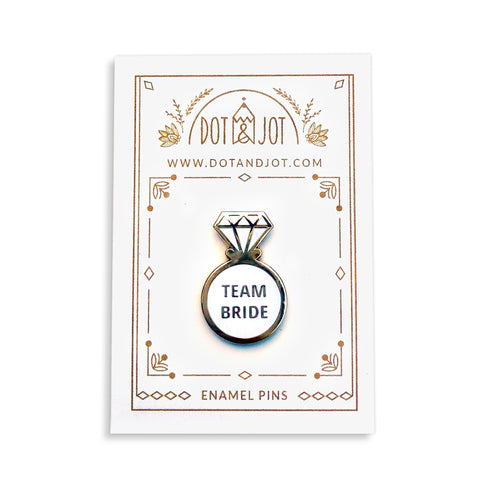 Team Bride Ring (white) - Enamel Pins