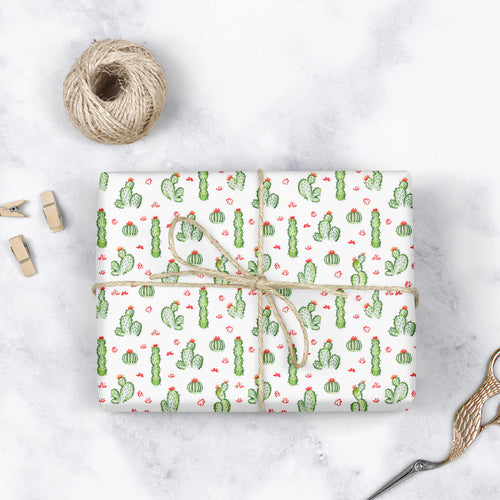 Cacti Fields - Gift Wrapping Paper