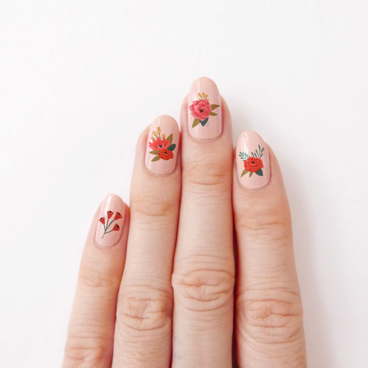 Floral Arrangements Nail Decals