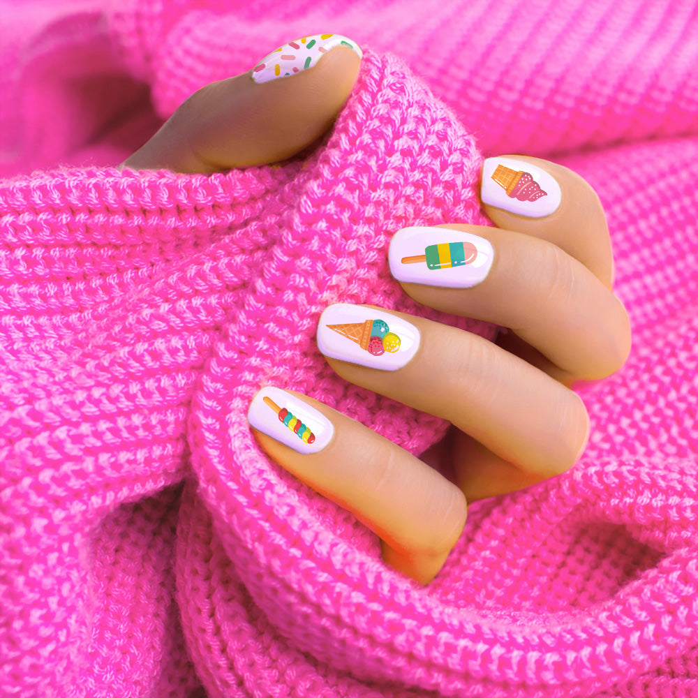 Ice Cream Nail Decals
