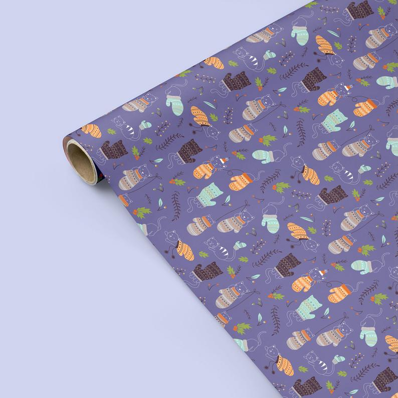 Kittens in Mittens - Wrapping Paper