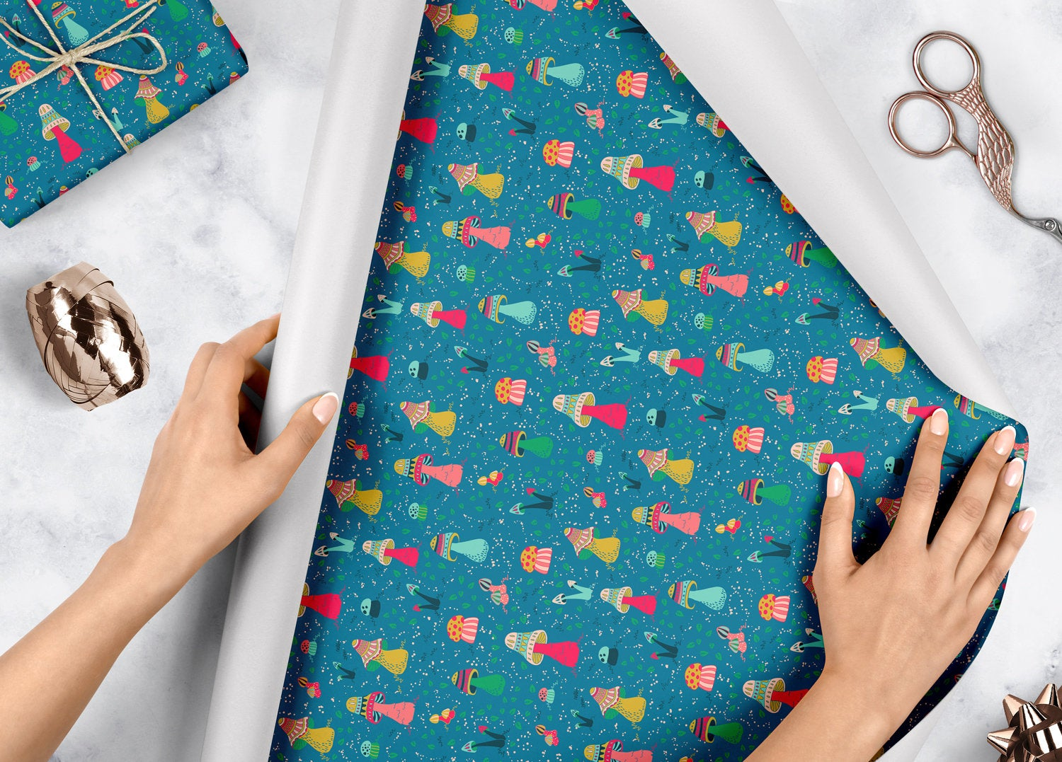 Majestic Mushrooms - Wrapping Paper