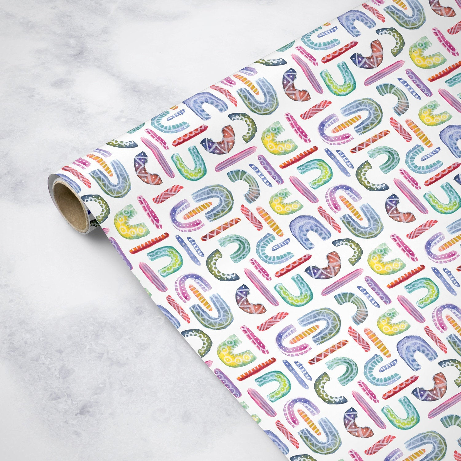 Watercolor Rainbows - Wrapping Paper