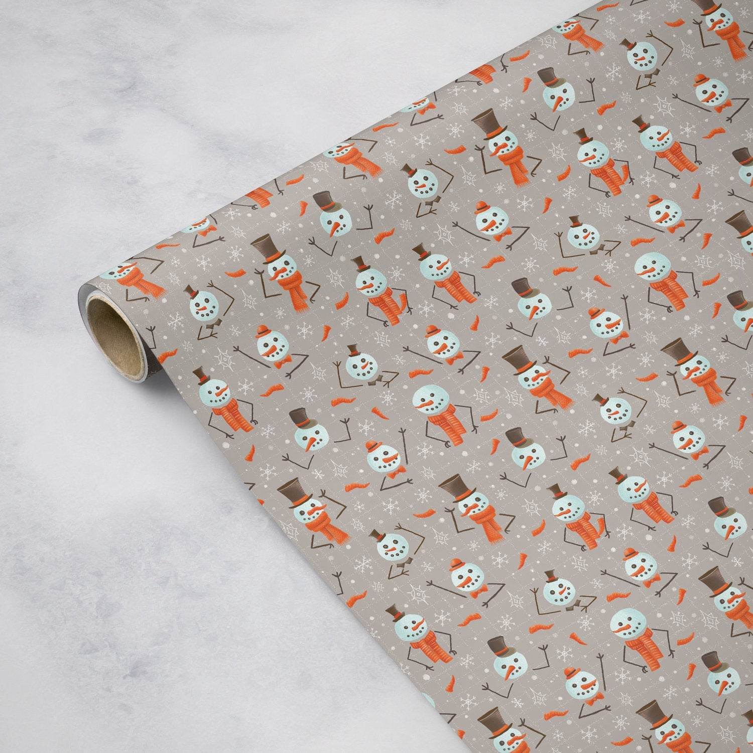 Snowmen - Wrapping Paper