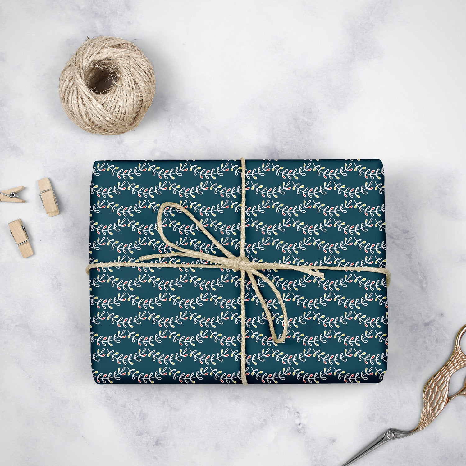 Vine Scallops- Wrapping Paper