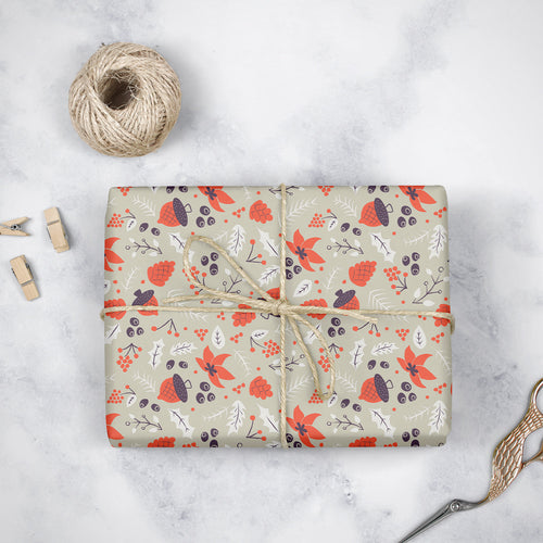Autumn Acorns - Wrapping Paper