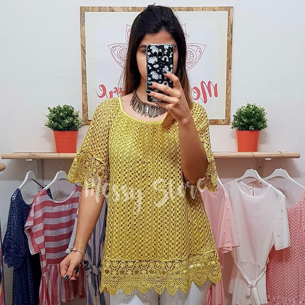Blusa Amelie Amarela - Messy Store