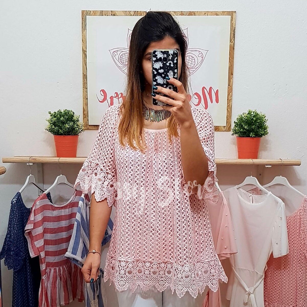 Blusa Amelie Rosa - Messy Store