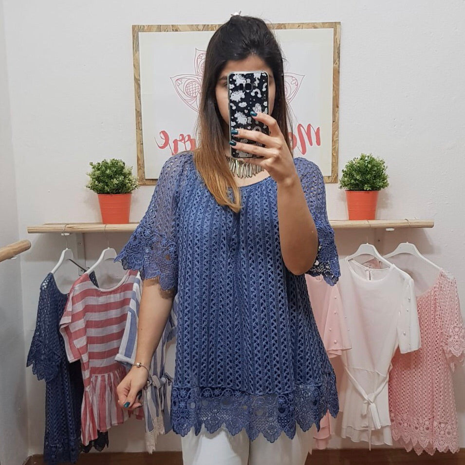 Blusa Amelie Azul - Messy Store