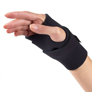 0128 / NEOPRENE WRAPAROUND WRIST SUPPORT / BLACK