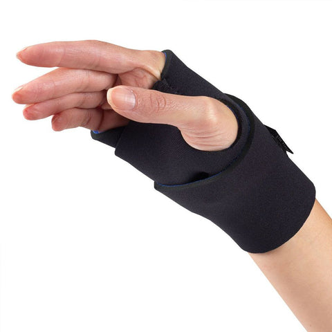 Side of NEOPRENE WRAPAROUND WRIST SUPPORT black