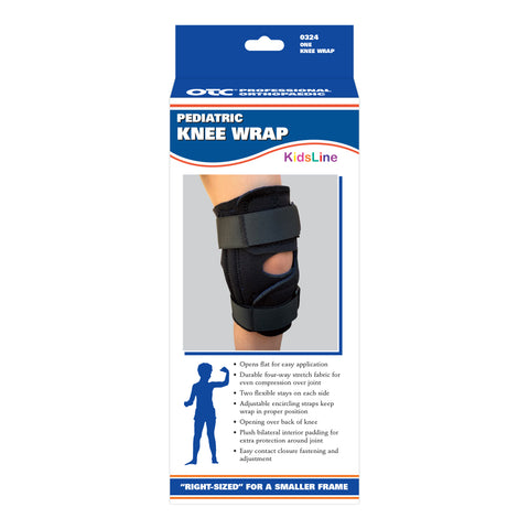 FRONT OF PEDIATRIC KNEE WRAP PACKAGING