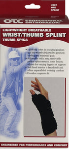 "Front packaging of 8"" WRIST/THUMB SPLINT/SPICA"
