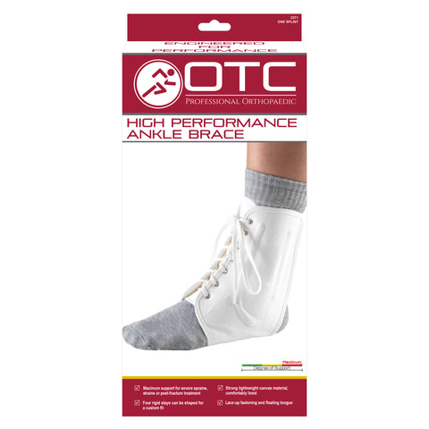 FRONT OF HIGH PERFORMANCE ANKLE BRACE PACKAGING