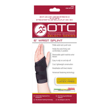 "Front packaging of SELECT SERIES 6"" WRIST SPLINT"