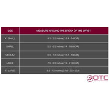 "SELECT SERIES 6"" WRIST SPLINT size chart"
