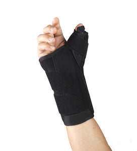 "Rear of SELECT SERIES 8"" WRIST-THUMB SPLINT"