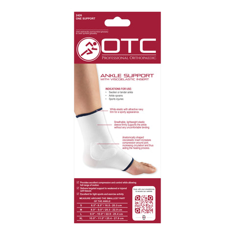 BACK OF ANKLE SUPPORT - VISCOELASTIC INSERT PACKAGING