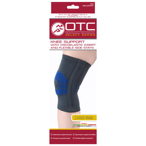 FRONT OF KNEE SUPPORT WITH COMPRESSION GEL INSERT AND FLEXIBLE STAYS PACKAGING