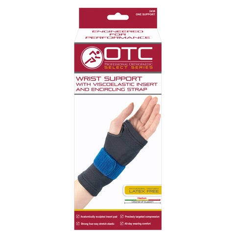 2438 / WRIST SUPPORT WITH COMPRESSION GEL INSERT AND ENCIRCLING STRAP