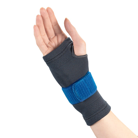 Front of WRIST SUPPORT WITH COMPRESSION GEL INSERT AND ENCIRCLING STRAP