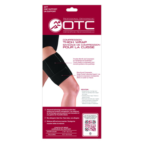 Compression Thigh Wrap Packaging Back