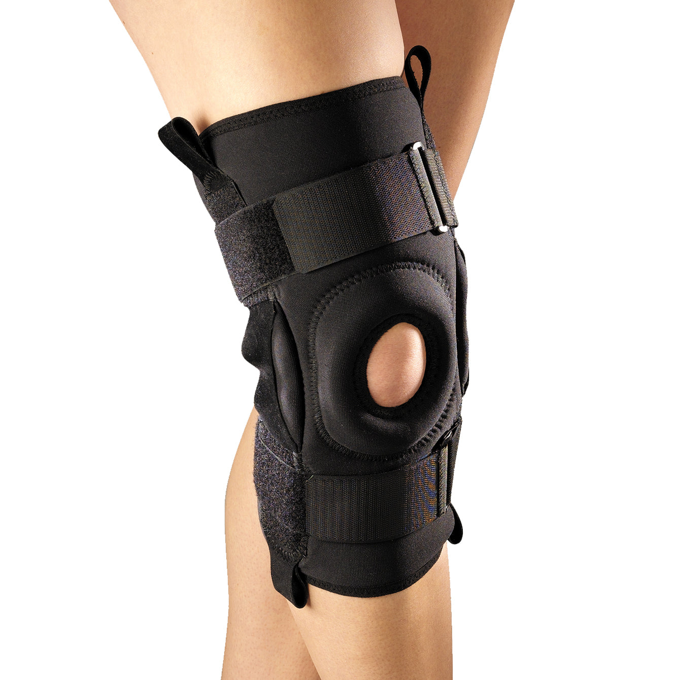 --Front of ORTHOTEX KNEE STABILIZER - ROM HINGED BARS--