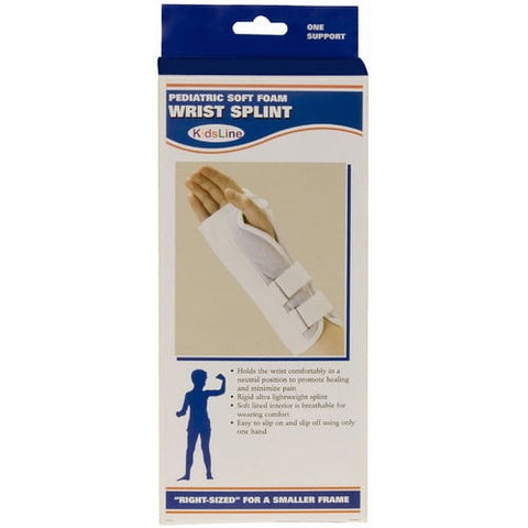 Front packaging of KIDSLINE WRIST SPLINT - SOFT FOAM