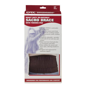 2886 / HEAVY DUTY ADJUSTABLE SACRO BRACE / THERMO PAD