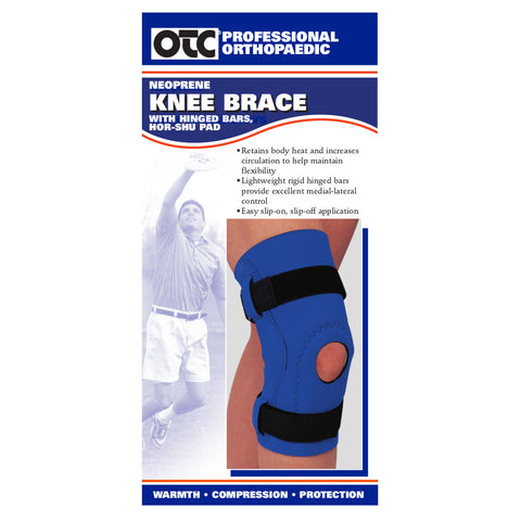 Front package of NEOPRENE KNEE SLEEVE - HOR-SHU PAD, HINGED BARS