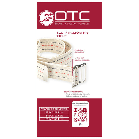 Rear packaging of GAIT TRANSFER BELT