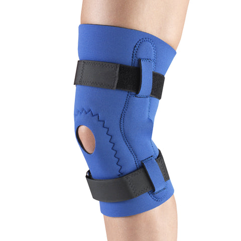 Side of NEOPRENE KNEE SLEEVE - HOR-SHU PAD, HINGED BARS
