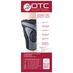 Rear packaging of AIRMESH KNEE SUPPORT WITH PATELLA UPLIFT