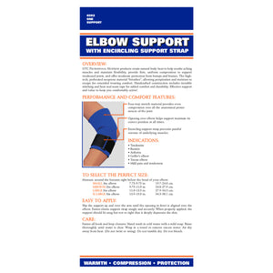 0302 / NEOPRENE ELBOW SUPPORT - STRAP / PACKAGING