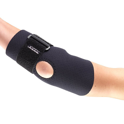 Side of NEOPRENE ELBOW SUPPORT - STRAP black