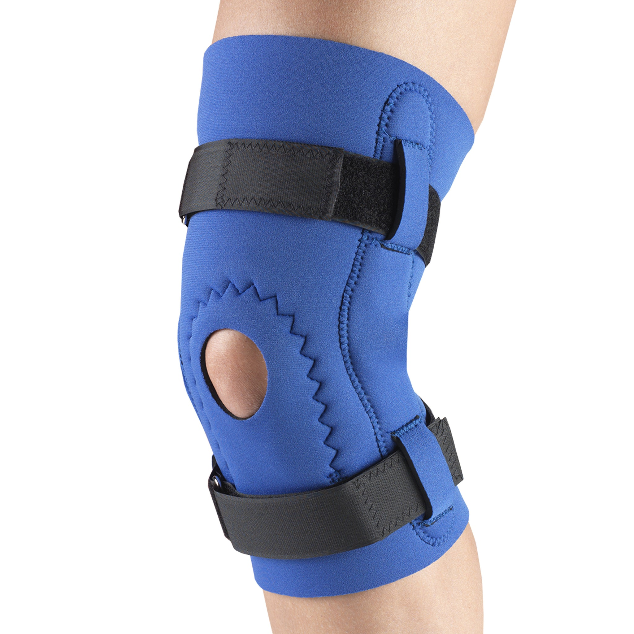 --Side of NEOPRENE KNEE SLEEVE - HOR-SHU PAD, HINGED BARS--