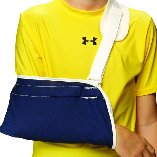 Front of KIDSLINE CRADLE ARM SLING blue