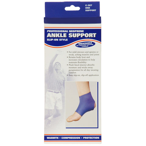 Front packaging of NEOPRENE ANKLE SUPPORT SLIP-ON STYLE