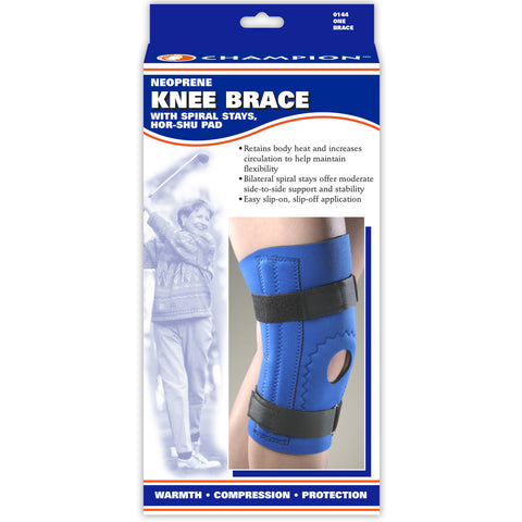 Front package of NEOPRENE KNEE SLEEVE - HOR-SHU PAD, SPIRAL STAYS