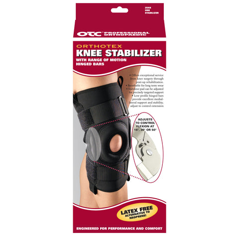 Front packaging of ORTHOTEX KNEE STABILIZER - ROM HINGED BARS