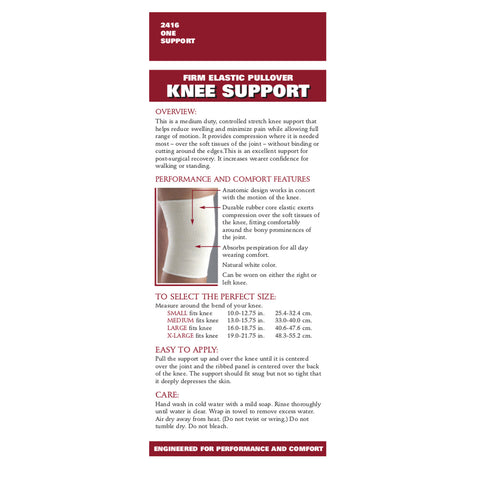 Rear packaging of PULLOVER ELASTIC KNEE SUPPORT