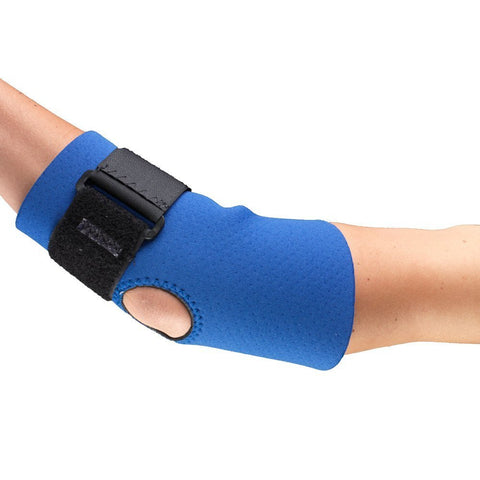 Side of NEOPRENE ELBOW SUPPORT - STRAP Blue