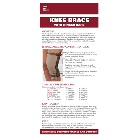 Rear packaging of KNEE BRACE - HINGED BARS