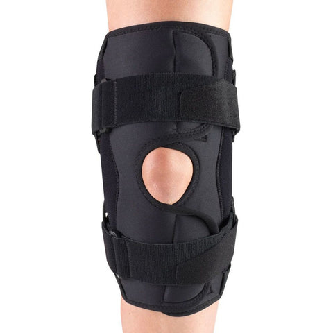 Front of ORTHOTEX KNEE STABILIZER WRAP - HINGED BARS