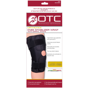 Front packaging of ORTHOTEX KNEE STABILIZER WRAP - SPIRAL STAYS