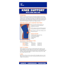 0142 / NEOPRENE KNEE SLEEVE - HOR-SHU PAD / PACKAGING